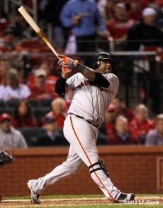 sf giants, san francisco giants, photo, 10/18/2012, nlcs game 4, pablo sandoval