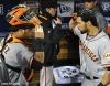 sf giants, san francisco giants, photo, nlcs, 2012, hector sanchez, angel paga