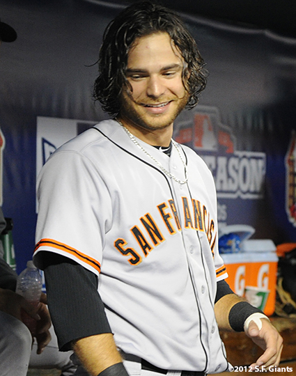 sf giants, san francisco giants, photo, nlcs, 2012, brandon crawford