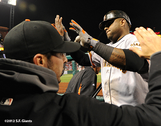 sf giants, san francisco giants, photo, 10/18/2012, nlcs game 4, GEORGE KONTOS, PABLO SANDOVAL
