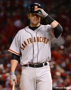 sf giants, san francisco giants, photo, 10/18/2012, nlcs game 4, buster posey