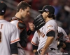 sf giants, san francisco giants, photo, nlcs, 2012, buster posey, barry zito