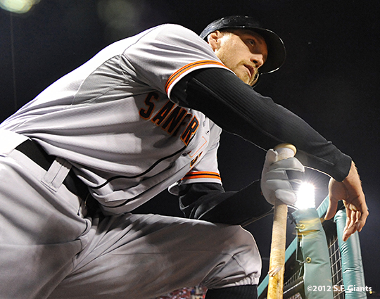 sf giants, san francisco giants, photo, nlcs, 2012, hunter pence