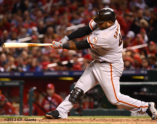 sf giants, san francisco giants, photo, 2012, nlcs, pablo sandoval