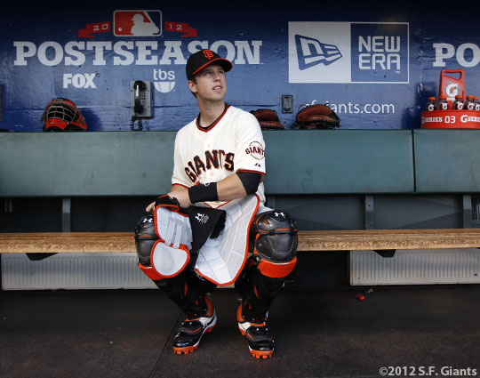 sf gaints, san francisco giants, photo, 10/21/2012, nlcs game 6, buster posey