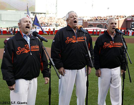 San Francisco Giants, S.F. Giants, photo, 2012, NLCS, The Kingston Trio