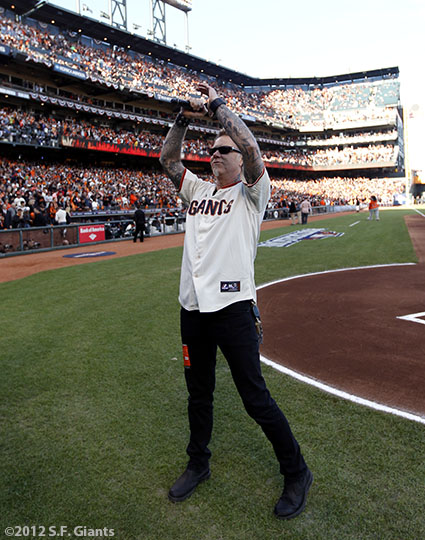San Francisco Giants, S.F. Giants, photo, 2012, NLCS, James Hetfield