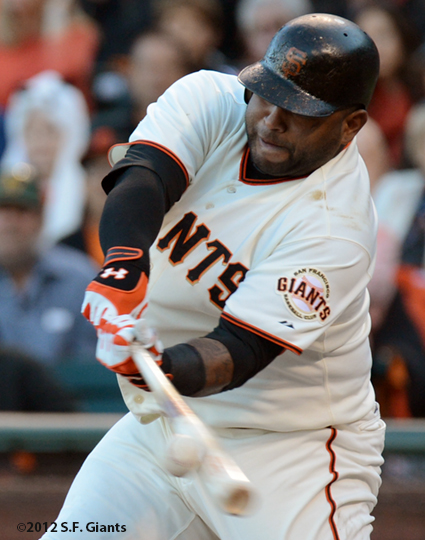 sf gaints, san francisco giants, photo, 10/21/2012, nlcs game 6, pablo sandoval
