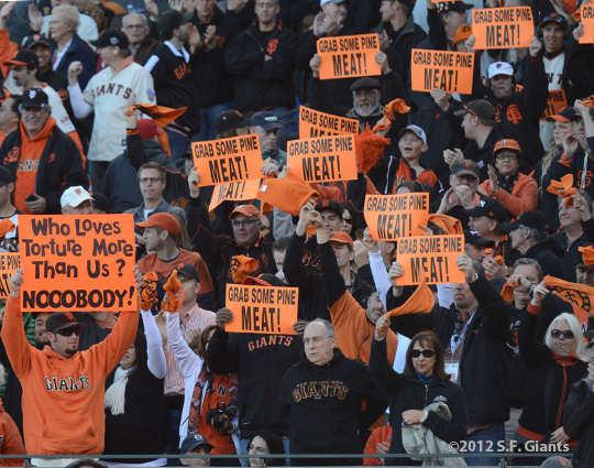 sf giants, san francisco giants, photo, nlcs game 6, 10/21/2012, FANS