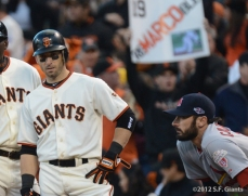 sf gaints, san francisco giants, photo, 10/21/2012, nlcs game 6, marco scutaro