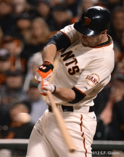 sf giants, san francisco giants, photo, nlcs game 6, 10/21/2012, BRANDON BELT