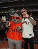 San Francisco Giants, S.F. Giants, photo, 2012, NLCS, Lou Seal and James Hetfield