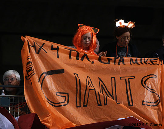 sf gaints, san francisco giants, photo, 10/21/2012, nlcs game 6, fans