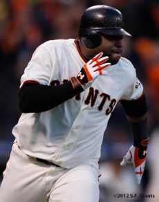 sf giants, san francisco giants, photo, 10/22/2012, nlcs game 7, clinch, pablo sandoval