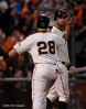 sf giants, san francisco giants, photo, 10/22/2012, nlcs game 7, clinch, brandon belt, buster posey