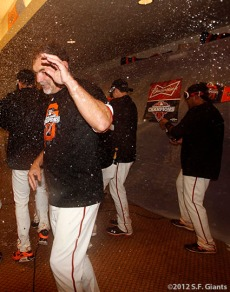 San Francisco Giants, S.F. Giants, photo, 2012, NLCS, Bruce Bochy