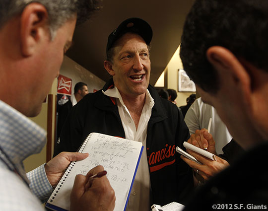 San Francisco Giants, S.F. Giants, photo, 2012, NLCS, Larry Baer