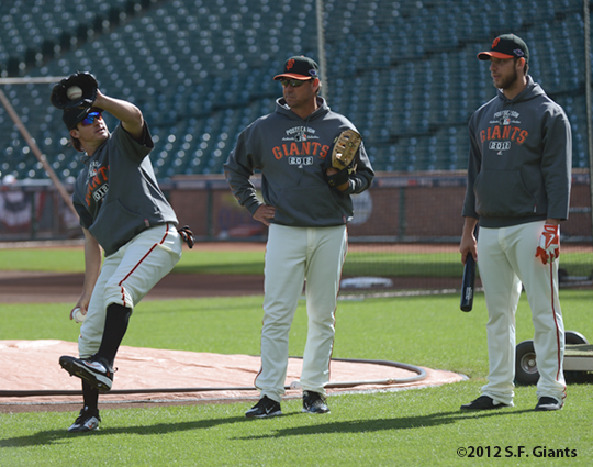 Ryan Theriot, Mark Gardner & Madison Bumgarner