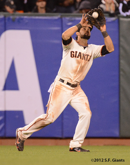 sf giants, san francisco giants, photo, 10/22/2012, nlcs game 7, clinch, angel pagan