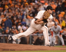 sf giants, san francisco giants, photo, 10/22/2012, nlcs game 7, clinch, javier lopez