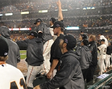San Francisco Giants, S.F. Giants, photo, 2012, NLCS, Aubrey Huff, team