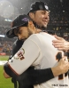 sf giants, san francisco giants, photo, 10/22/2012, nlcs game 7, clinch, angel pagan, ryan vogelsong