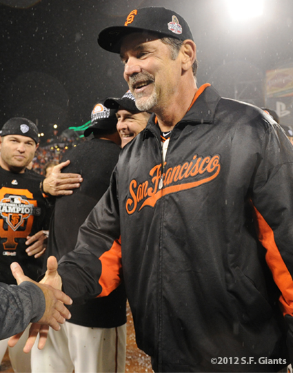 sf giants, san francisco giants, photo, 10/22/2012, nlcs game 7, clinch, bruce bochy