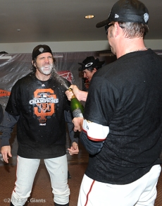 San Francisco Giants, S.F. Giants, photo, 2012, NLCS, Barry Zito and Jeremy Affeldt