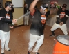 San Francisco Giants, S.F. Giants, photo, 2012, NLCS, Xavier Nady and Pablo Sandoval