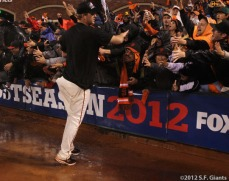 sf giants, san francisco giants, photo, 10/22/2012, nlcs game 7, clinch, matt cain