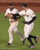 sf giants, san francisco giants, photo, 10/22/2012, nlcs game 7, clinch, angel pagan, hunter penc