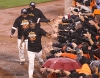 San Francisco Giants, S.F. Giants, photo, 2012, NLCS, Jean Machi, Francisco Peguero and Santiago Casilla