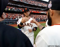 San Francisco Giants, S.F. Giants, photo, World Series, Brandon Crawford