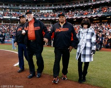 San Francisco Giants, S.F. Giants, photo, 2012, World Series, Orlando Cepeda, Gaylord Perry, Willie Mays