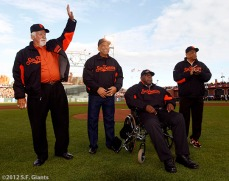 Gaylord Perry, Orlando Cepeda, Willie McCovey and Willie Mays