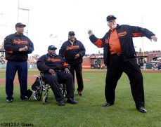 San Francisco Giants, S.F. Giants, photo, World Series, Orlando Cepeda, Willie McCovey, Willie Mays, Gaylord Perry