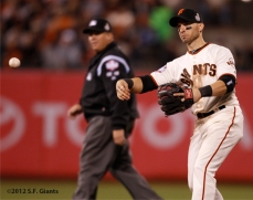 sf giants, san francisco giants, photo, 10/24/2012, world series game 1, marco scutaro