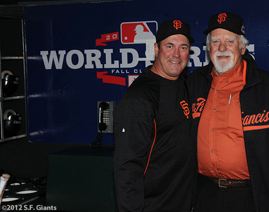 San Francisco Giants, S.F. Giants, photo, 2012, World Series, Will Clark and Gaylord Perry