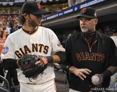 sf giants, san francisco giants, photo, 10/24/2012, world series game 1, brandon crawford, billly hayes
