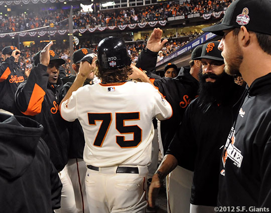 San Francisco Giants, S.F. Giants, photo, 2012, World Series, Barry Zito