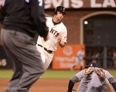 sf giants, san francisco giants, photo, 10/24/2012, world series game 1, brandon belt