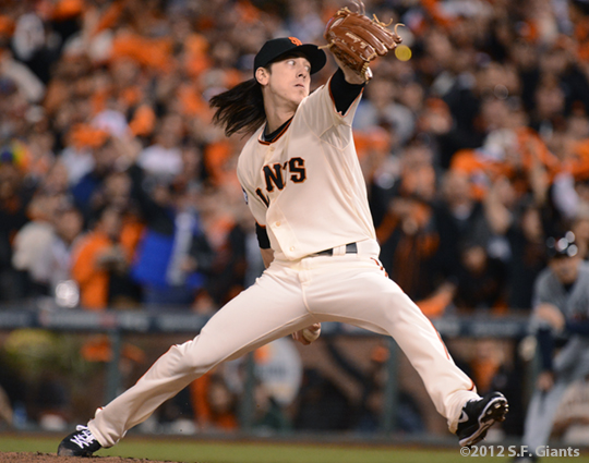 sf giants, san francisco giants, photo, 10/24/2012, world series game 1, tim lincecum