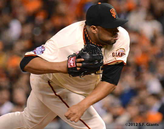 sf giants, san francisco giants, photo, 10/24/2012, world series game 1, jose mijares