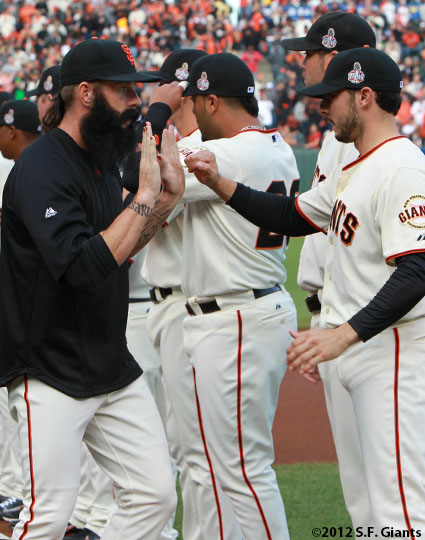 San Francisco Giants, S.F. Giants, photo, World Series, Brian Wilson, Clay Hensley