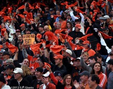 sf giants, san francisco giants, photo, 10/24/2012, world series game 1, fans