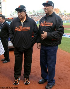 Willie Mays and Orlando Cepeda