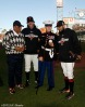 San Francisco Giants, S.F. Giants, photo, 2012, World Series, Willie Mays, Barry Zito, Nicholas Kimmel and Sergio Romo