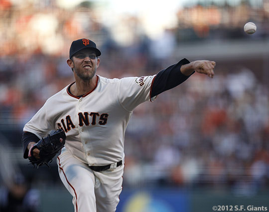 San Francisco Giants, S.F. Giants, photo, 2012, World Series, Madison Bumgarner