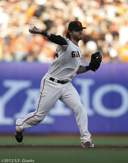 San Francisco Giants, S.F. Giants, photo, 2012, World Series, Brandon Crawford