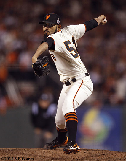 San Francisco Giants, S.F. Giants, photo, 2012, World Series, Sergio Romo